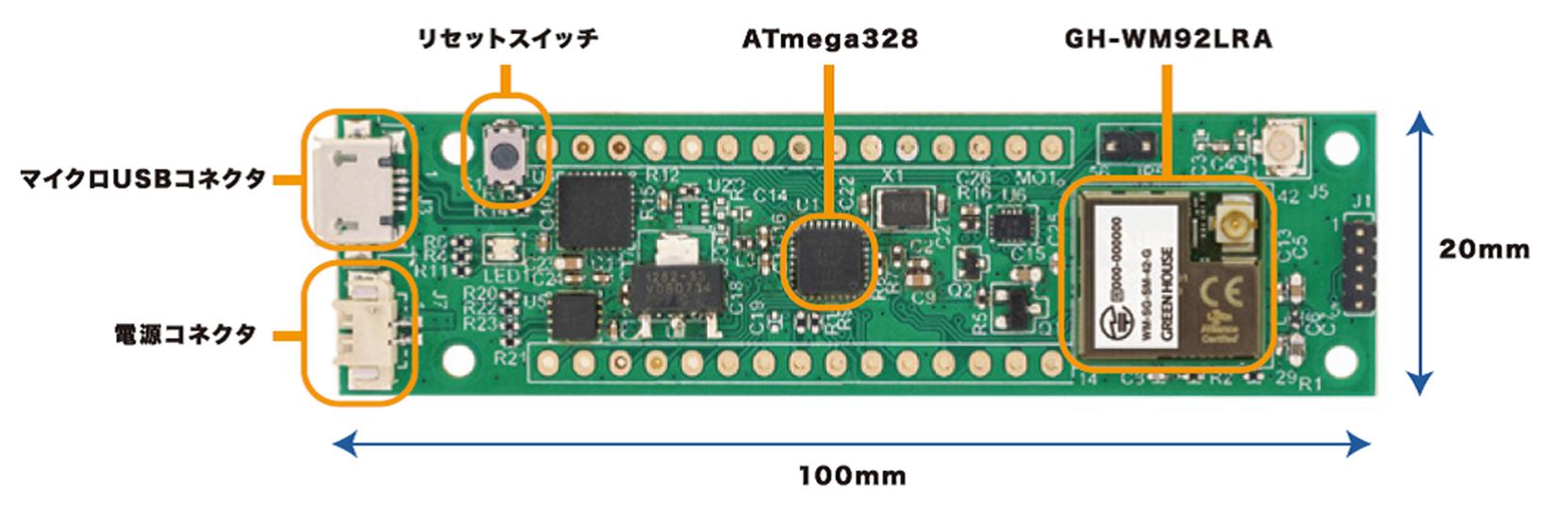 Arduinoで開発できるLoRaWAN通信チップとマイコンを搭載した国内初の評価用ボード